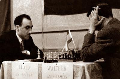 Partida de ajedrez Lladó-Walther, 1957