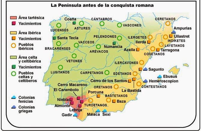 Celtas E Iberos Mapa.Celtas E Iberos Historia De Espana 2º Bach
