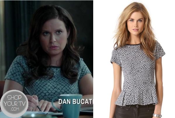Scandal: Season 3 Episode 4 Quinn's Snake Skin Peplum Top