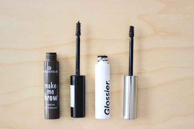 Essence Make Me Brow Eyebrow Gel Mascara vs. Glossier Boy Brow