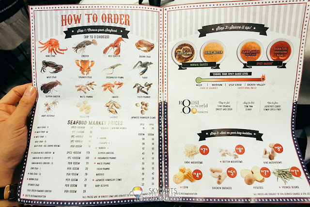 How to order food at Crab Factory SS2