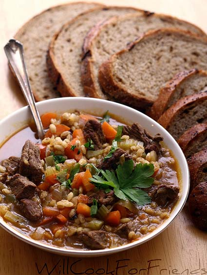 Beef Barley Soup for the Soul - Will Cook for Friends
