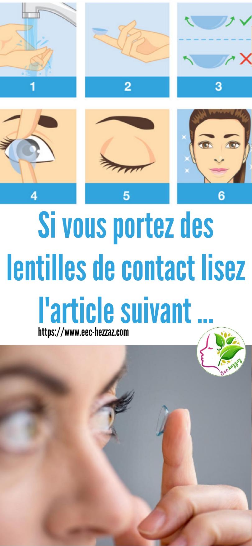 Si vous portez des lentilles de contact lisez l'article suivant ...