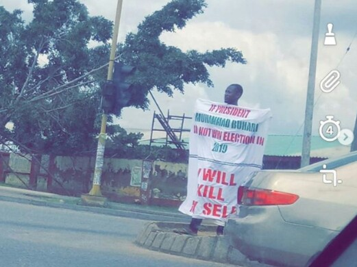 Man Publicly Threatens To Kill Himself If President Buhari Loses 2019 Election