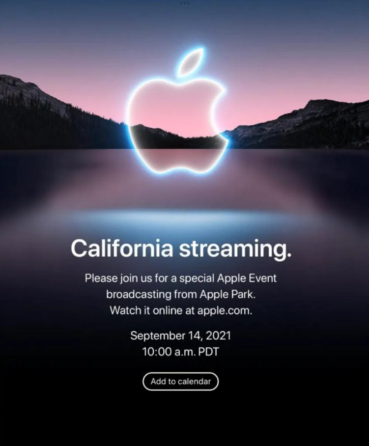 Apple Event Apple iPhone 13 Launch Invitation