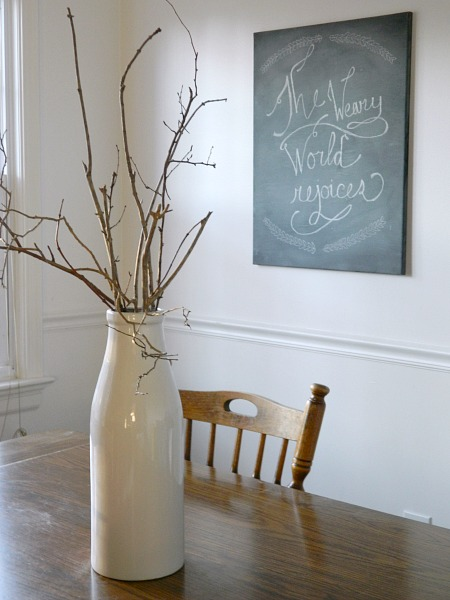 DIY Chalkboard Canvas