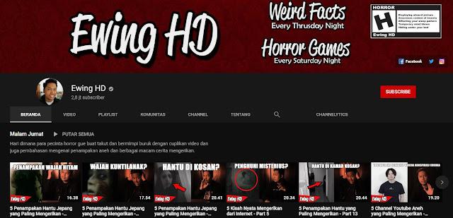 Channel Youtube Horror Indonesia Yang Harus Dikinjungi OIeh Pecinta Horror