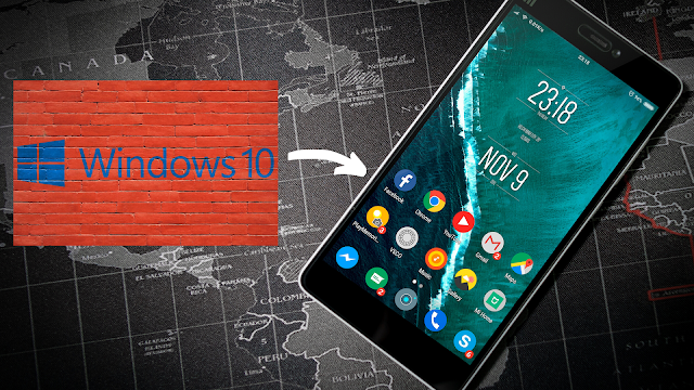Install windows 10 on android