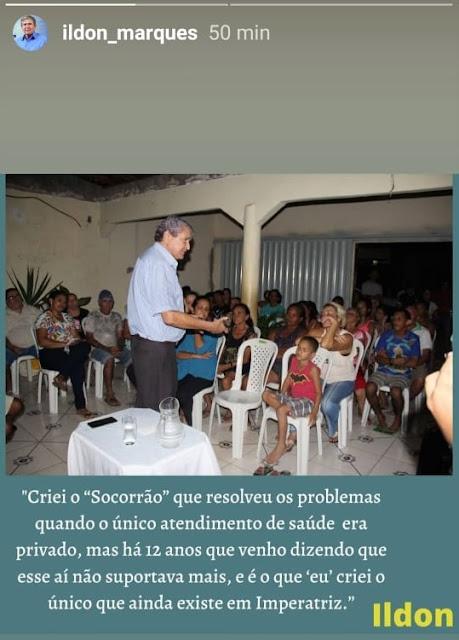 Ildon Marques disse que o Socorrão que ele criou ainda é o unico que existe na cidade!!!
