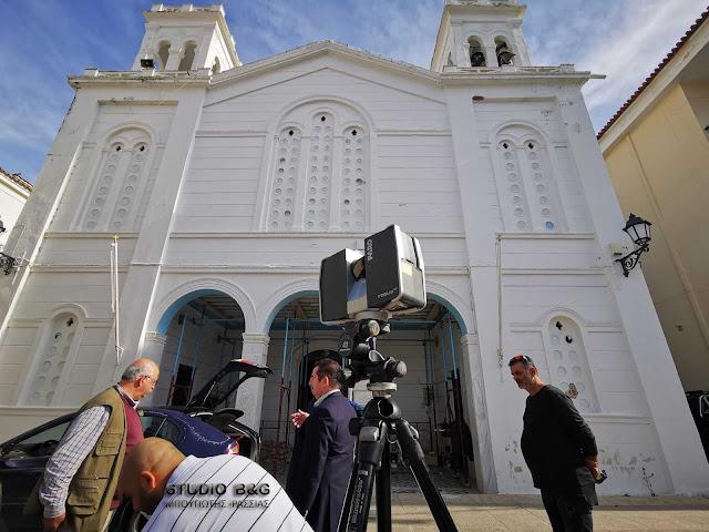 Ξεκινησε η αποτύπωση για την μελέτη αποκατάστασης του Αγίου Νικολάου Ναυπλίου (βίντεο)