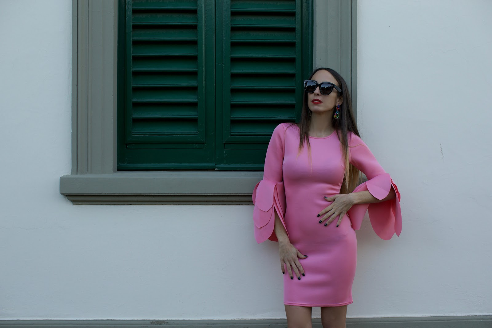 abito elegante rosa