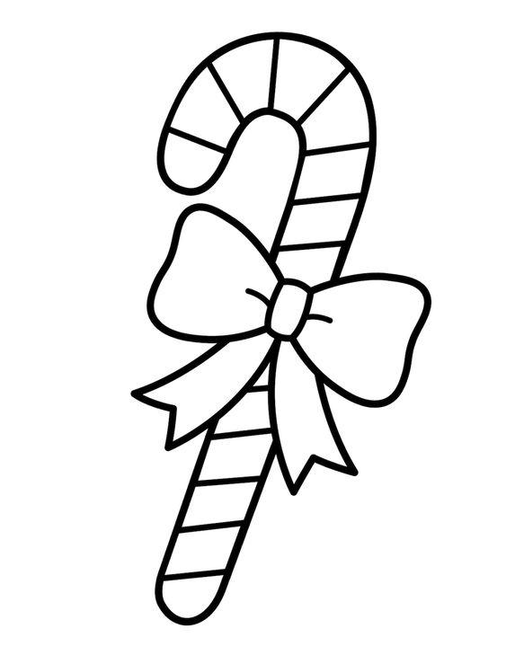 Hình tô màu cây kẹo giáng sinh