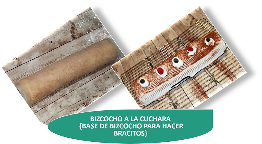BIZCOCHO A LA CUCHARA {BASE DE BIZCOCHO PARA HACER BRACITOS}