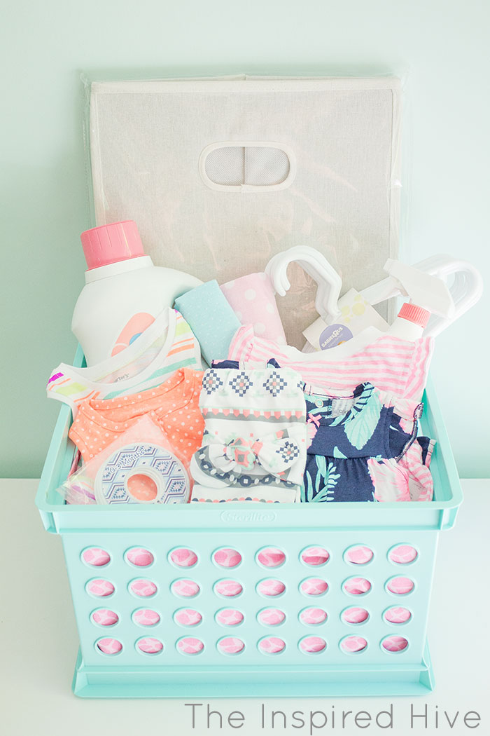 What To Put In A Baby Shower Gift Basket : shower, basket, Laundry, Basket, Shower, Inspired