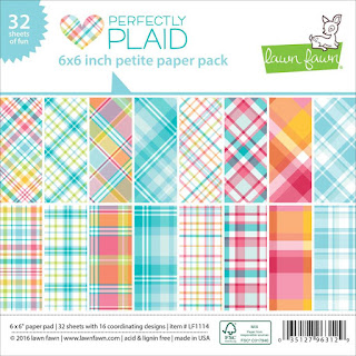 Perfectly Plaid 6x6 inch petite paper pad
