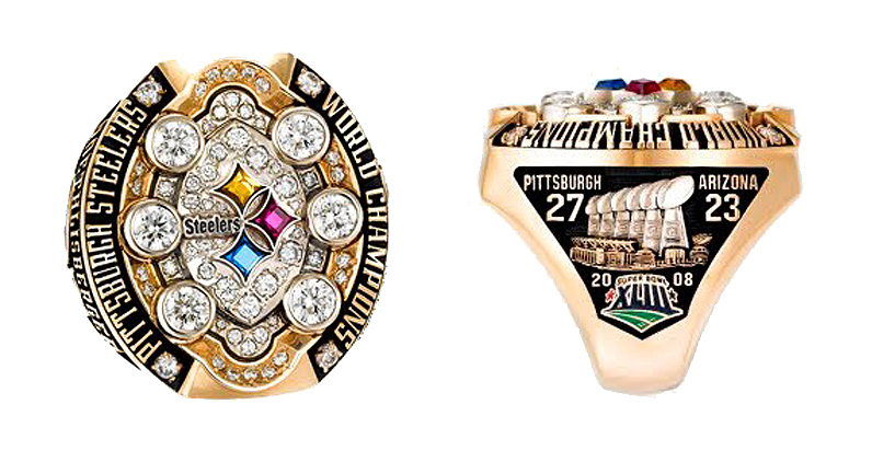 pittsburgh steelers 2008 super bowl ring