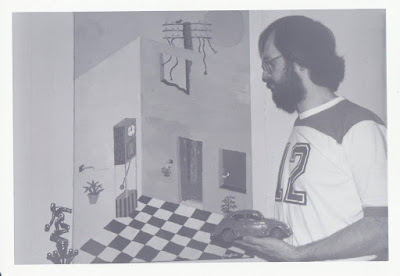 A much younger doug with the lost painting, circa 1976