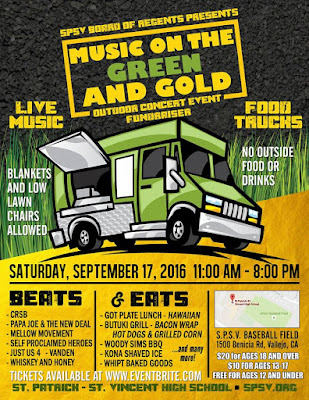 SPSV St Patrick St Vincent: Music on the Green and Gold;John Laxa;Beats & Eats