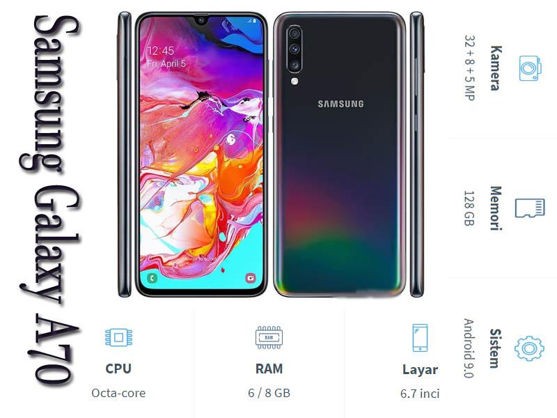 Review Samsung Galaxy A70, Bagian Tertinggi Galaxy A