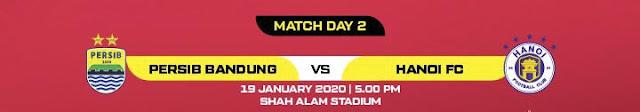 Live Streaming Persib Bandung vs Hanoi FC 19.1.2020.
