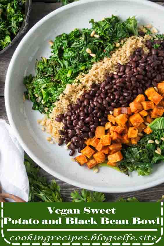 4.7 ★★★★★ | Vegan Sweet Potato and Black Bean Bowl is an easy meal prep recipe. This vegan recipe is great for lunch or dinner! #healthy recipes #lunch #vegetarian