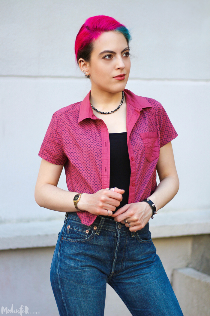 modenfer, jeans levis, levis 501, levis ootd, zegarek casio, złoty zegarek casio, zakupy w lumpeksach, perełki lumpeksowe
