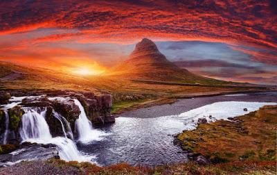 colores rojizos y cobres típicos el otoño en Islandia