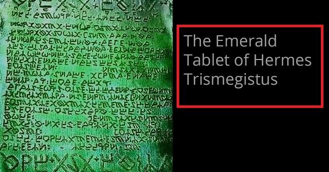 Το μυστικό του σμαραγδένιου πίνακα του Ερμή Τρισμεγίστου