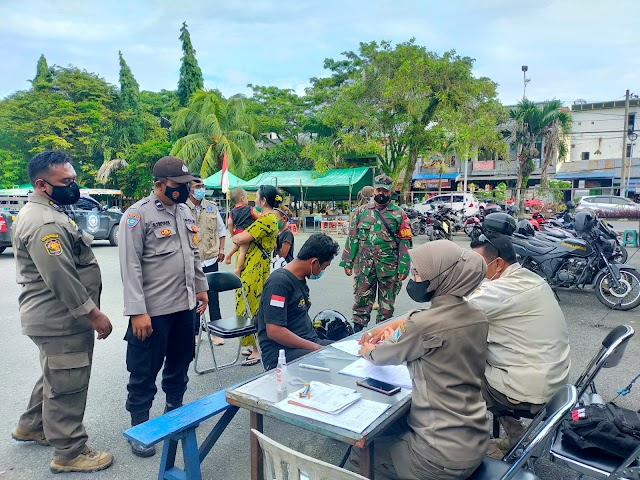 Gelar Razia Prokes di Balikpapan Selatan, Petugas Gabungan Jaringan Belasan Warga Tak Pakai Masker