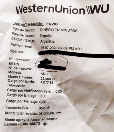 western union usarlo para comprar euros autogiro comision western union
