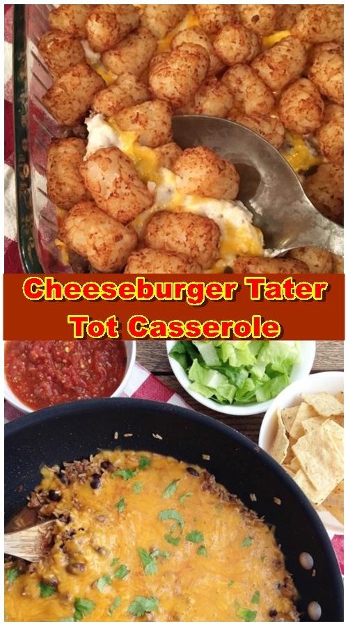 Cheeseburger Tater Tot Casserole