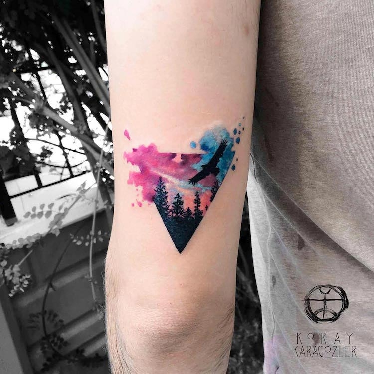 25 + Inspiring Watercolor Tattoos Designs Which Are Added The ...