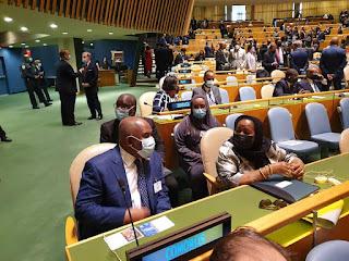 Le Président AZALI à l'ouverture des débats de l'Assemblée générale de l'ONU