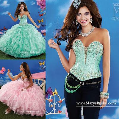 opciones de Vestidos de 15 años Desmontables