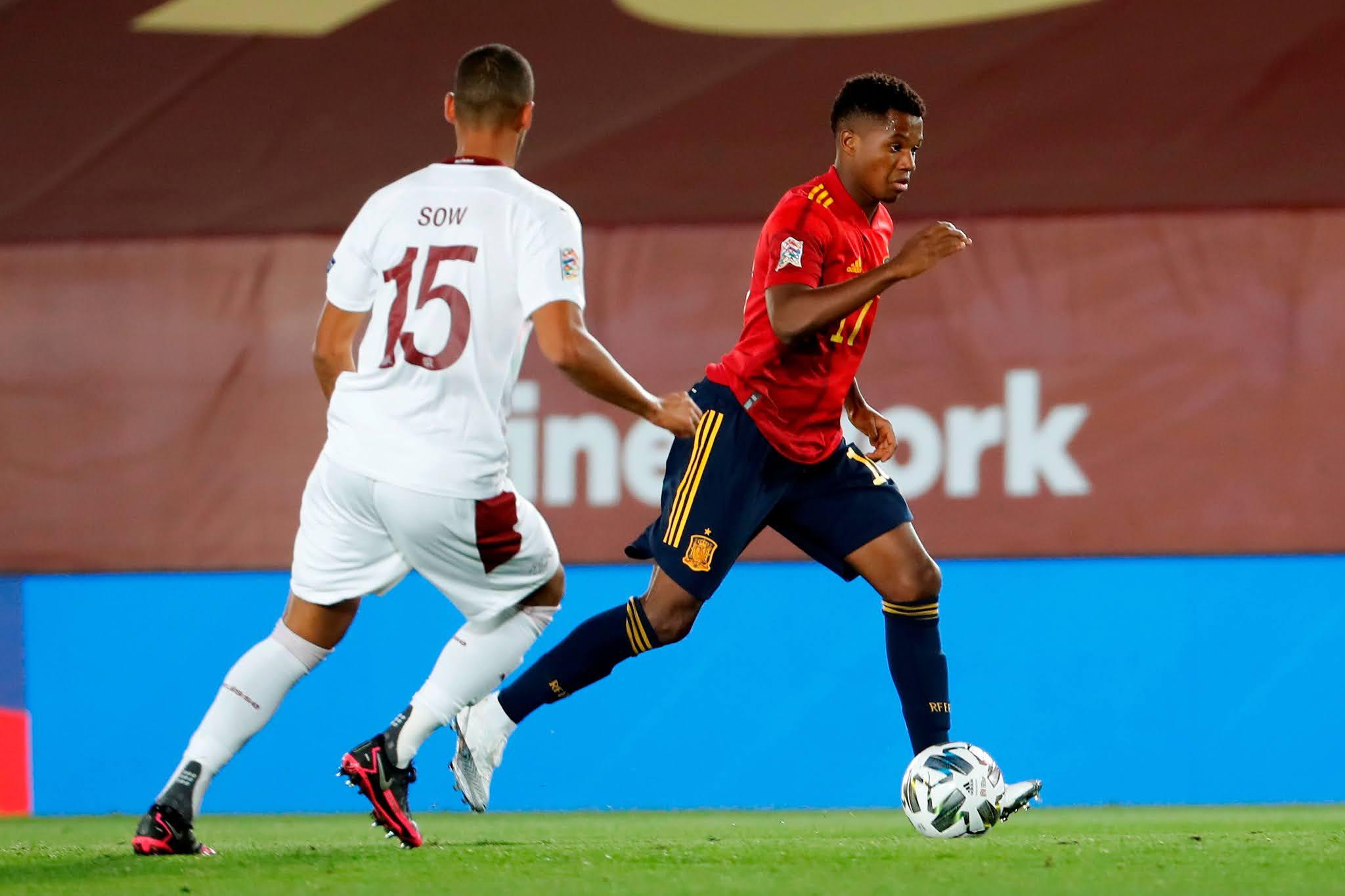España Suiza UEFA Nations League