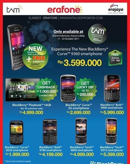 Pameran BlackBerry Oktober 2011, Spesial Harga dan Bonus