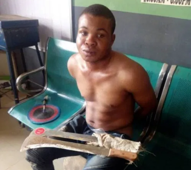 Anambra man arrested for killing son with cutlass