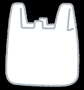 レジ袋のイラスト(空)