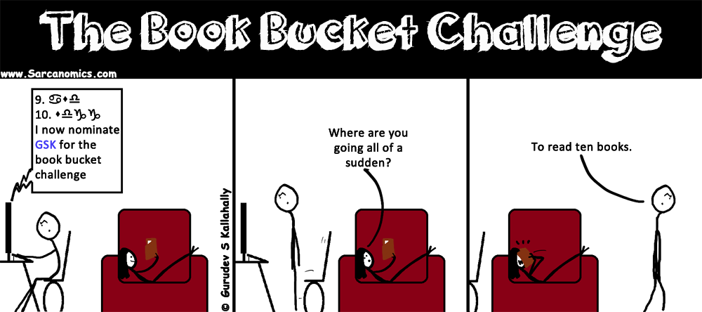 "My response to being nominated to the ""Book bucket challenge"""
