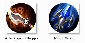 attack speed dagger dan magic wand mobile legends