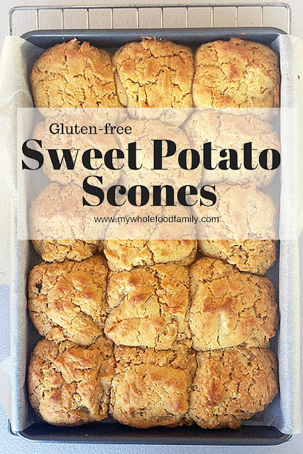gluten free sweet potato scones - from www.mywholefoodfamily.com