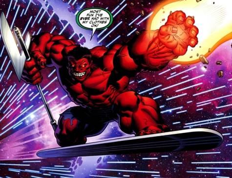 Red Hulk mató a Silver Surfer