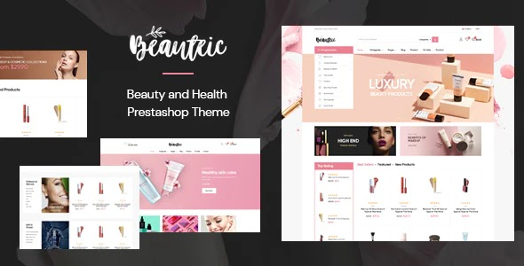 Cosmetics and Skincare Website Theme