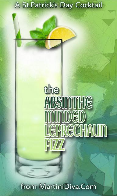 Absinthe MINDED LEPRECHAUN FIZZ Cocktail Recipe