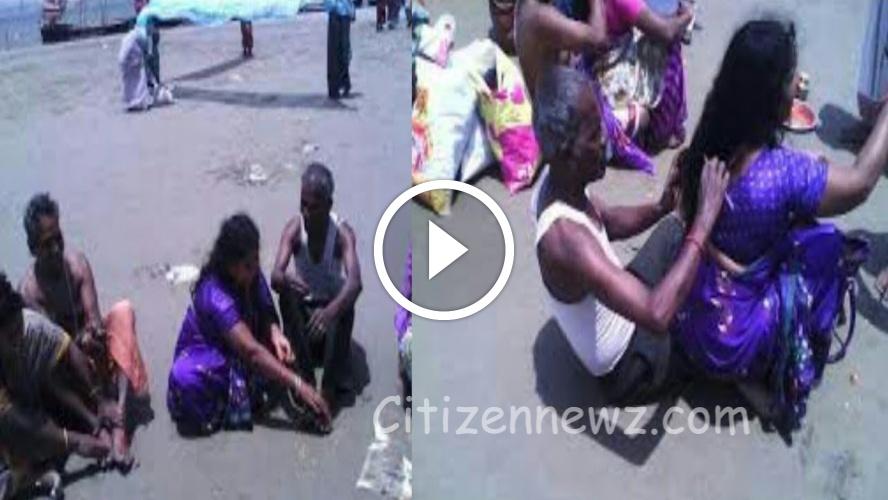 அன்பான கணவன் மனைவி   இணையத்தில் கோடிக்கணக்கான மக்கள் பார்த்த வீடியோ !!