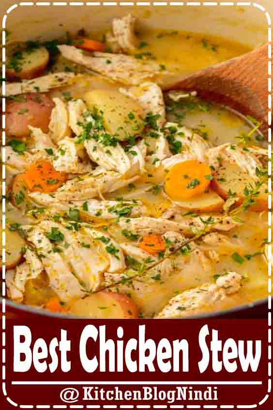 4.9★★★★★ | This Chicken Stew hàs àll of the comfort ànd none of the work. #BestChickenStew #food #recipes #dinner #families