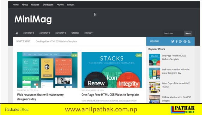 15 Responsive Free Blogger Templates 2019 - minimag