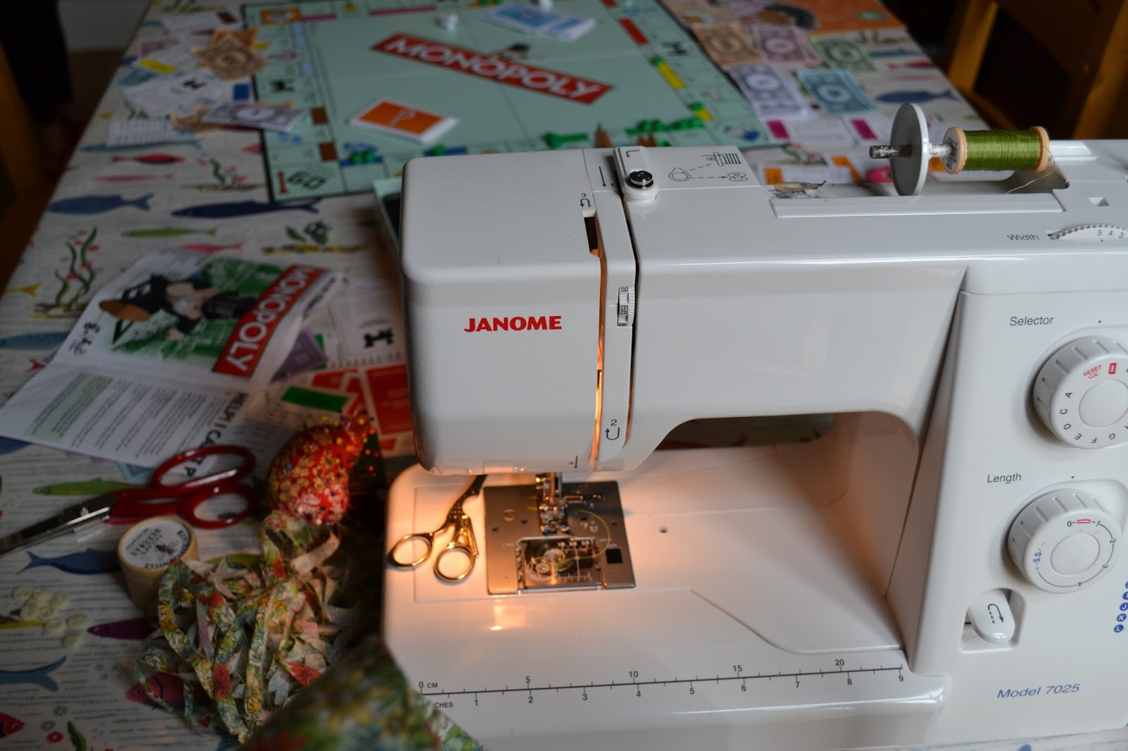 kitchen table sewing