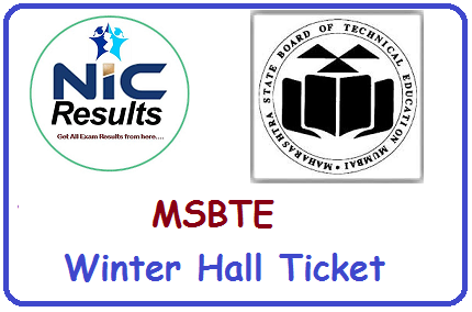 Maharashtra State Board Technical Education MSBTE Winter Hall Ticket
