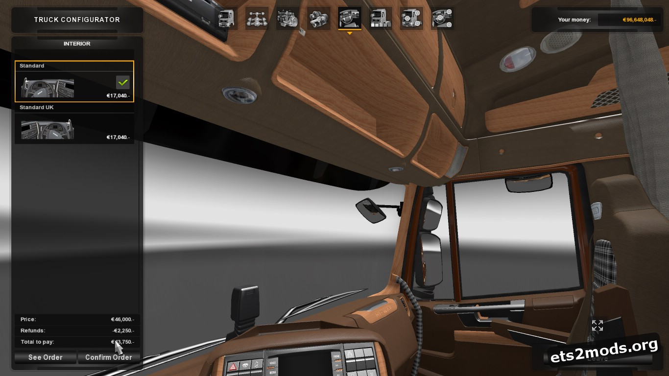 Iveco Hi Way Woodcutter Interior V 1.0